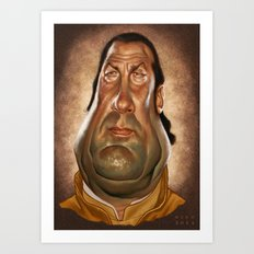 Steven Seagal Art Print