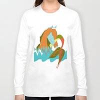 sea horse Long Sleeve T-shirts featuring Sea Horse by Pazciencia Creativa