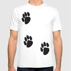 Pawprints Mens Fitted Tee White MEDIUM