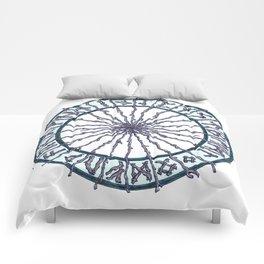 Elder Futhark Rune Wheel Comforters