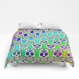 Day Of The Dead Celebration Comforters