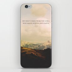 My help comes form the Lord, who made heaven and earth iPhone & iPod Skin