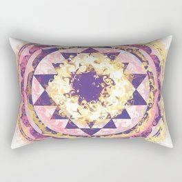 Golden Fire Sri Yantra Rectangular Pillow