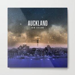 Auckland Wallpaper Metal Print
