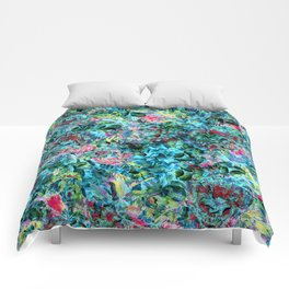 Abstract Floral Chaos Comforters