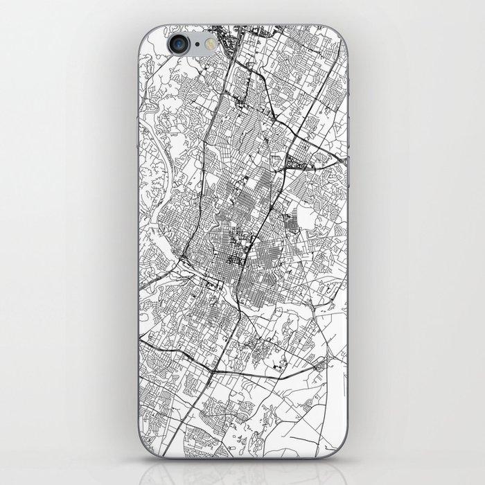 Austin White Map iPhone Skin
