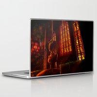 castlevania Laptop & iPad Skins featuring Castlevania: Medusa's Room by FirebornForm