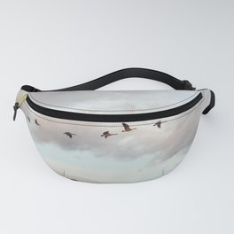 Migration of the Birds // Mountain and Sky Meets Nature Landscape Photography of Wildlife Fanny Pack