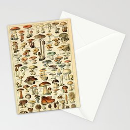 Adolphe Millot- Vintage Mushrooms Illustration Stationery Cards