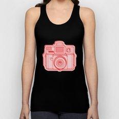 I Still Shoot Film Holga Logo - Reversed Red Unisex Tank Top