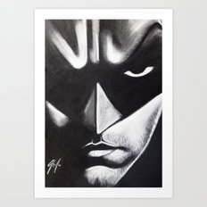DARK HERO FACE Art Print