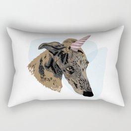 greyhound unicorn Rectangular Pillow