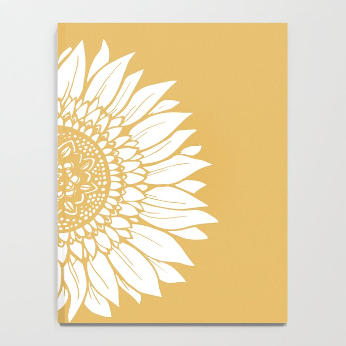 Yellow Sunflower Drawing Notebook