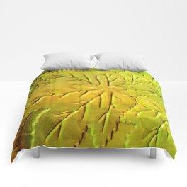 Green Gloss Leafs Comforters