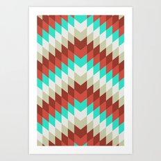 Snakeskin Chevron Art Print
