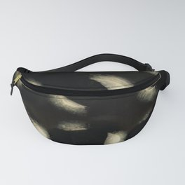 """Scandinavian White Spots on Black Burlap Concrete"" Fanny Pack"