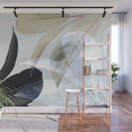 Moody Leaves II Wall Mural