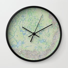 Sheltered forests Wall Clock