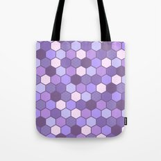 Galactic Hexagons in Purple Tote Bag