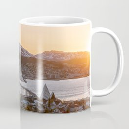 Sunset at Tromsø, Norway || Travel photography mountain architecture lapland winter scandinavia  Coffee Mug