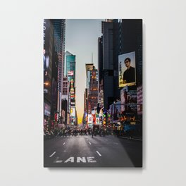 Times Square From Afar Metal Print