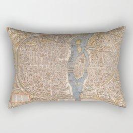 Old Antique Paris Map Rectangular Pillow
