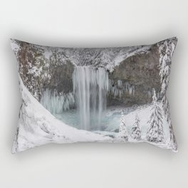 Tamanawas Falls in Winter Rectangular Pillow