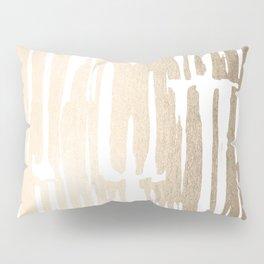 White Gold Sands Bamboo Stripes Pillow Sham
