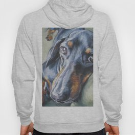 Dachshund Fine Art Dog Painting from an original painting by L.A.Shepard Hoody