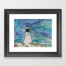 The Moody Blue Light Framed Art Print