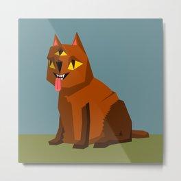 Three eyed cat creature Metal Print