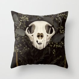 Skull and Bone Throw Pillow