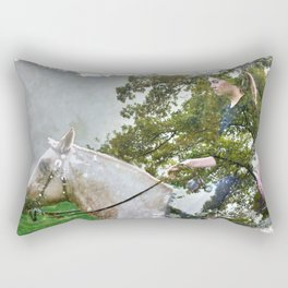 A Spark in the Trees Rectangular Pillow