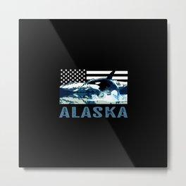 Alaskan Orca Metal Print