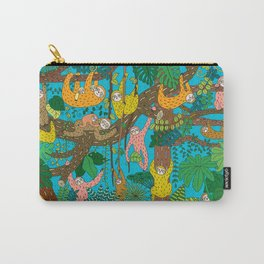 Happy Sloths Jungle Carry-All Pouch