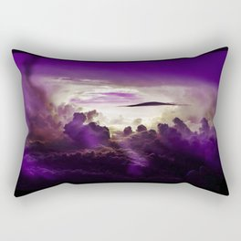 I Want To Believe - Purple Rectangular Pillow