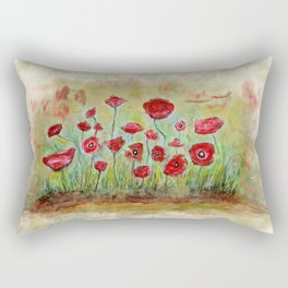 poppy island Rectangular Pillow