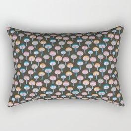 Pattern Project / Mushroom Pattern (Dark) Rectangular Pillow