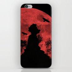Red moon rock iPhone & iPod Skin