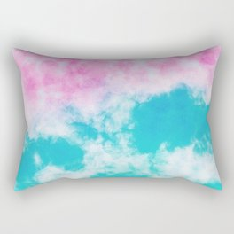Pink and blue watercolor effect Rectangular Pillow