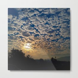 Sunrise Behind the Clouds Metal Print