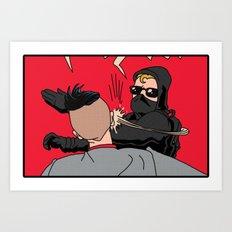 Black Bloc Man V. Spencer Art Print