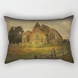 St Clement's Old Romney From The East Rectangular Pillow