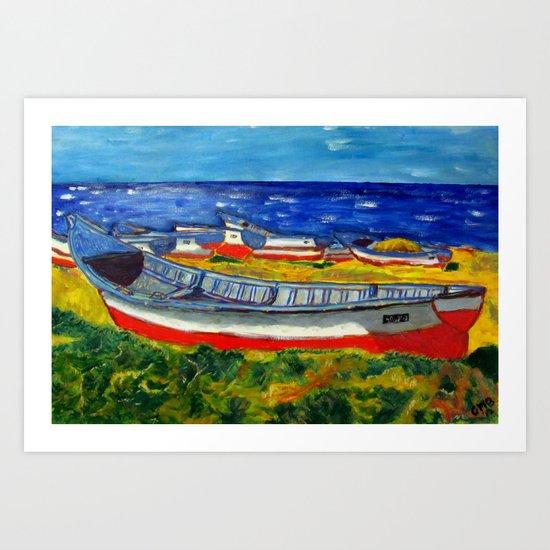 Flota de Coquimbo Art Print