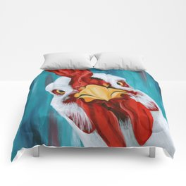 Sticky Beak - Colorful Chicken Art Comforters