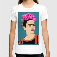 frida kahlo T-shirts featuring Frida Kahlo by Stephanie Jett