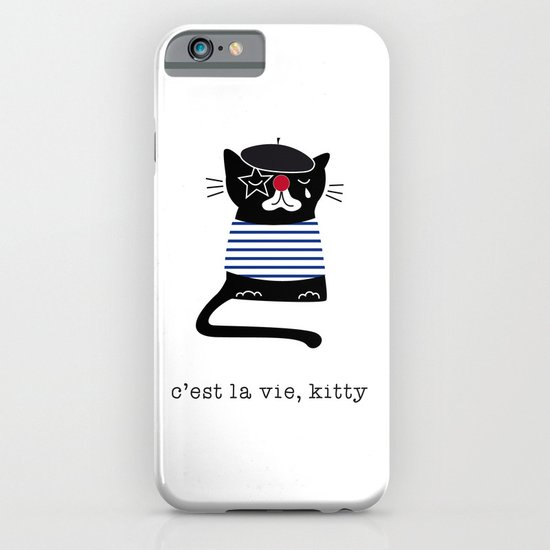 c'est la vie kitty iPhone & iPod Case