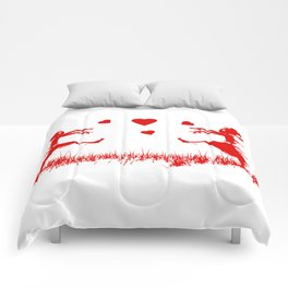 Zombies in Love Red Comforters