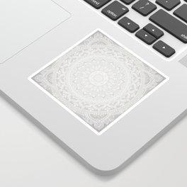 Mandala Soft Gray Sticker