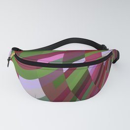 Burgundy and Green Fanny Pack